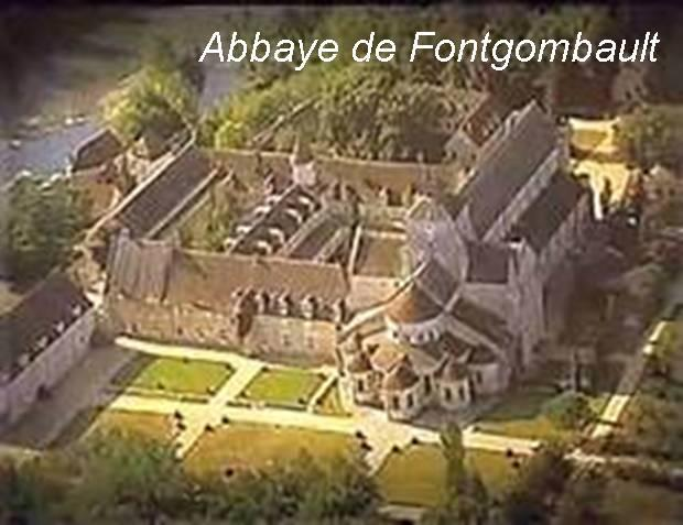 Abbaye de fontgombault with text